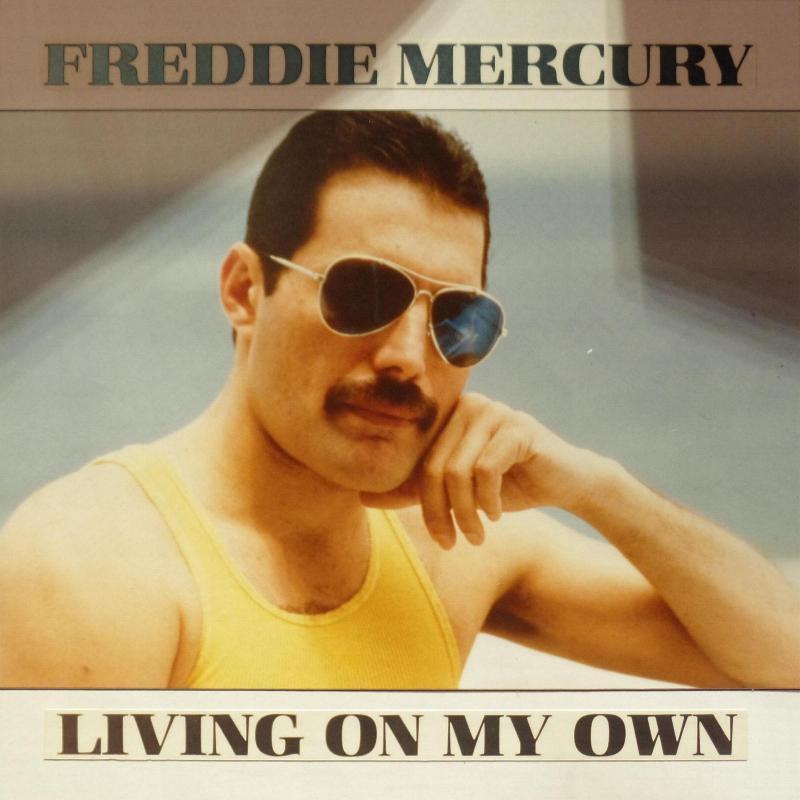 """Freddie Mercury """"Living On My Own"""" single gallery"""