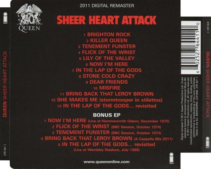 queen  u0026quot sheer heart attack u0026quot  album gallery