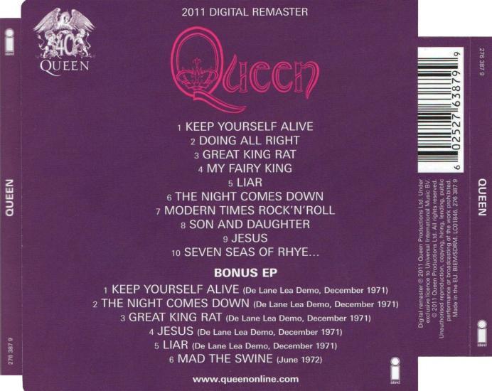 Queen UK Albums Discography 1973-1989