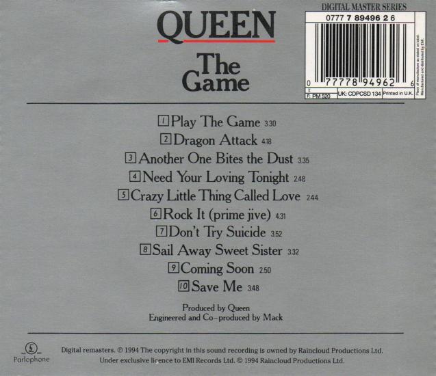queen  u0026quot the game u0026quot  album gallery