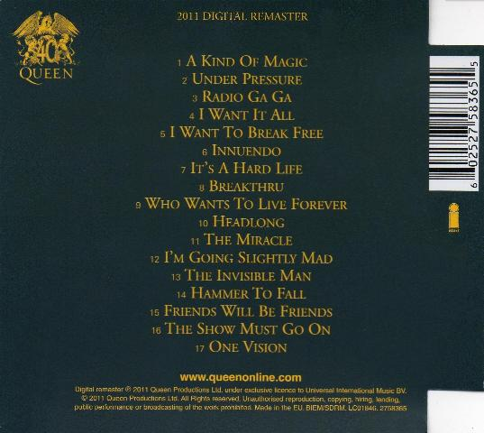 Queen Quot Greatest Hits Ii Quot Album Gallery