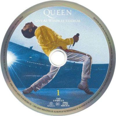 Queen 'Live At Wembley Stadium' UK CD disc 1 ...