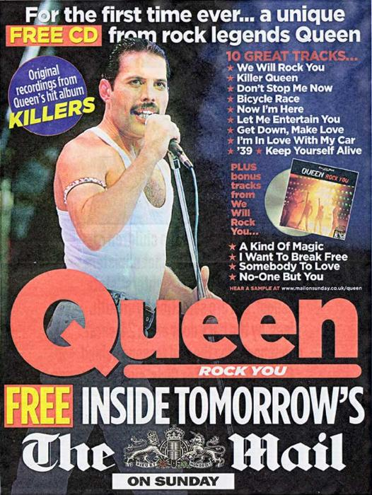 "Queen ""Queen Rock You"" Sunday Mail free CD album gallery"
