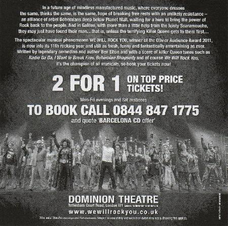 'We Will Rock You' flyer back