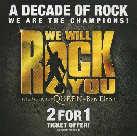'We Will Rock You' flyer front