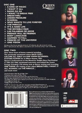 Queen DVD's and Blu-rays Discography