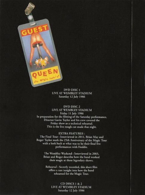 Queen 'Live At Wembley Stadium' UK 2011 CD & DVD set ...