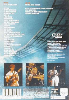 ... Queen 'Live At Wembley Stadium' UK DVD back sleeve